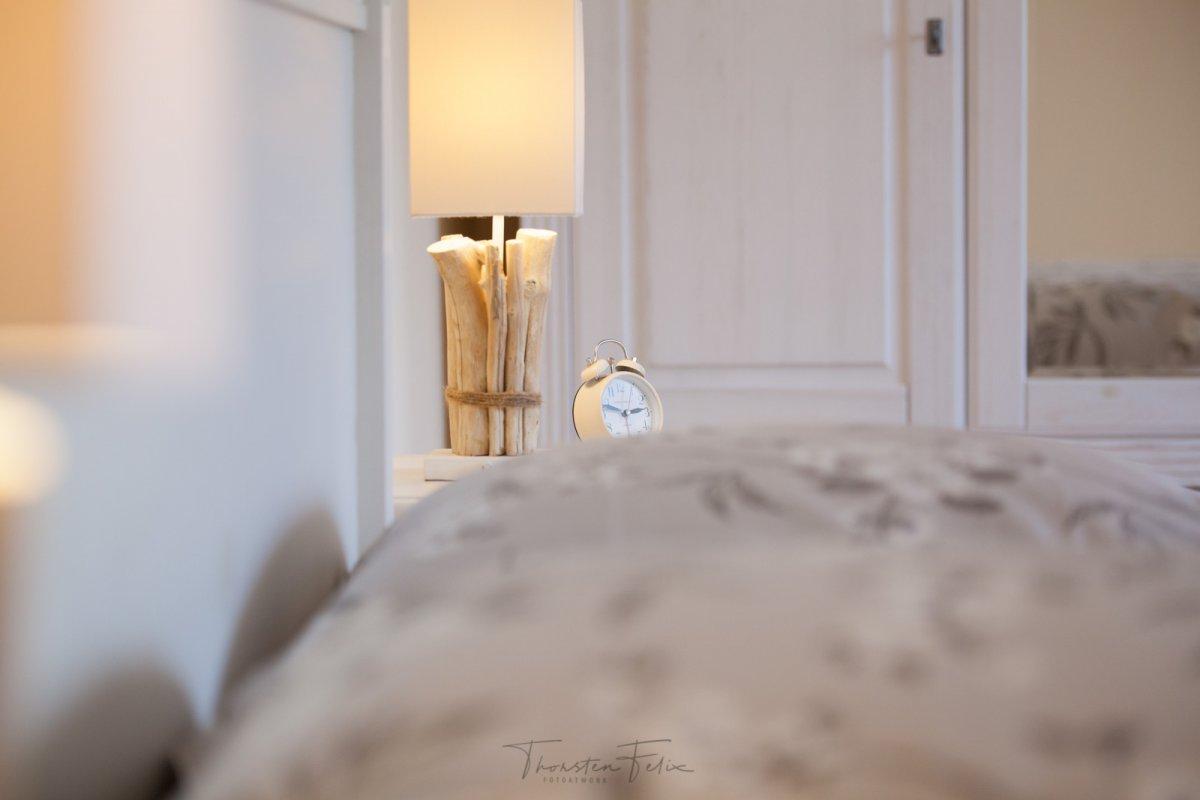 Schlafzimmer Detailaufnahmen einer Ferienwohnung