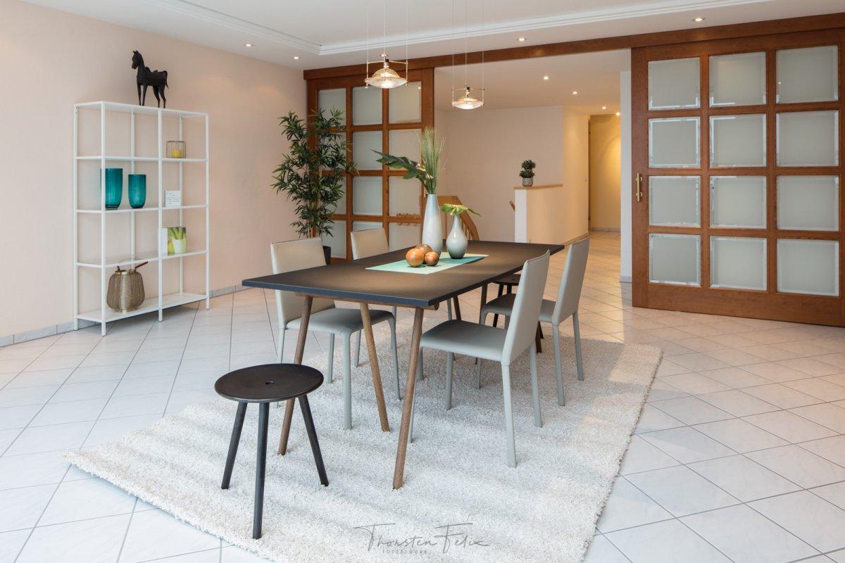 Interieuraufnahme Esszimmer mit manuellem Weißabgleich