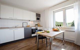Kücheneinrichtung in Studentenwohnheim